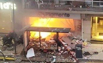 El video del momento de la explosión en el local | Ciudad