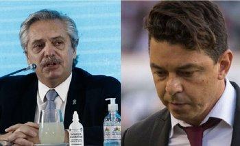 Alberto habló con Gallardo por la vuelta del fútbol | Fútbol argentino