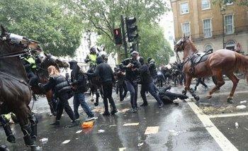 Caballo queda suelto entre los manifestantes de Londres | George floyd
