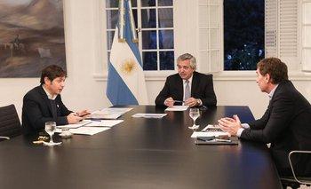 Alberto recibió a Kicillof y Santilli | Coronavirus en argentina