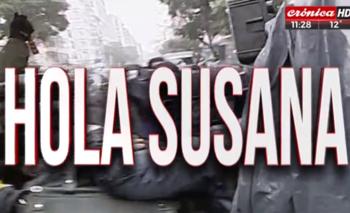 Las desopilantes placas de Crónica TV por Susana Martinengo | Espionaje ilegal