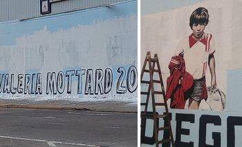 Candidata de Pichetto tapó un mural de Maradona en La Matanza | Juntos por el cambio
