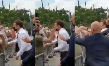 Macron fue golpeado por un ciudadano en un acto público | Francia