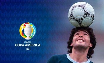 El homenaje de la Conmebol a Maradona antes de Argentina - Chile | Copa américa 2021