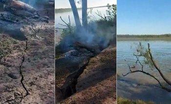 El peor final: preparaban un asado, pero el río se llevó la parrilla | Fenómenos naturales