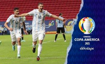Con gol de Guido Rodríguez, Argentina venció 1-0 a Uruguay   Copa américa 2021