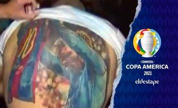 Messi le firmó el tatuaje gigante al hincha brasileño que fue viral   Copa américa 2021