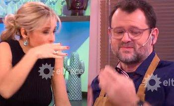 Mariana Fabbiani se atragantó con un plato de Christophe en vivo   Televisión