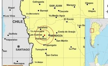 Fuerte sismo en Mendoza que también se sintió en San Juan   Temblor
