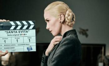 "Natalia Oreiro compartió una imagen suya como Evita: ""Está quedando increíble"" | Serie"