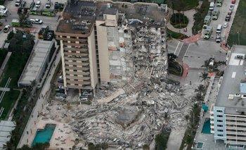 Derrumbe en Miami: suspenden el rescate y quedan 9 argentinos desaparecidos   Estados unidos