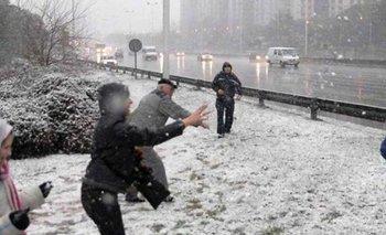 Nevó en el interior bonaerense: ¿puede llegar al AMBA?   Servicio meteorológico nacional