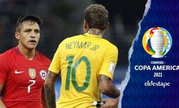 Brasil y Chile, por un lugar en semis de la Copa América | Copa américa 2021