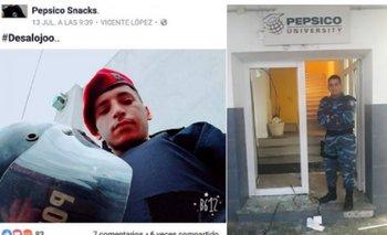 Las selfies que se tomaron los policías en la represión de Pepsico | Pepsico