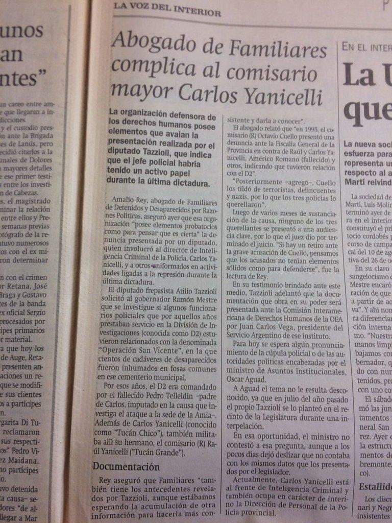 Aguad niega delitos de Yanicelli
