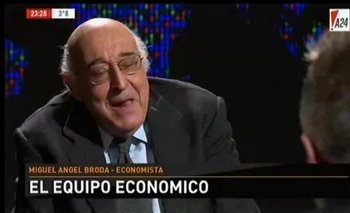 """Broda: """"Macri va a terminar con peores indicadores que los que dejó Cristina""""   Miguel ángel broda"""