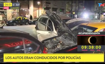 Un policía conducía borracho y provocó un choque múltiple en Almagro | Accidente