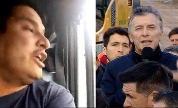 El video del camionero que escrachó a Macri en pleno acto oficial:   Mauricio macri