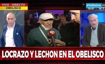 Jubilado humilló a conductor oficialista de Crónica TV | Crónica tv