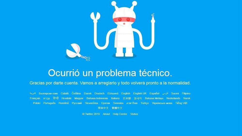 Usuarios de Twitter reportan fallas a nivel mundial