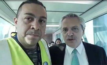 El video de un trabajador aéreo con Alberto F. que se volvió viral | Habló de aerolíneas