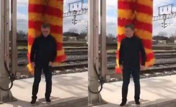 Macri se rascó con una máquina de limpieza del tren y las redes no lo perdonaron | Mauricio macri
