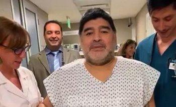 Maradona se mostró luego de meses y ya camina | Diego maradona