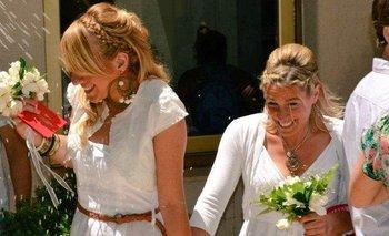 El amor de dos mamás que nació en el fútbol | Matrimonio igualitario