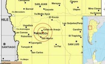 Un temblor sacudió a Mendoza | Fenómenos naturales