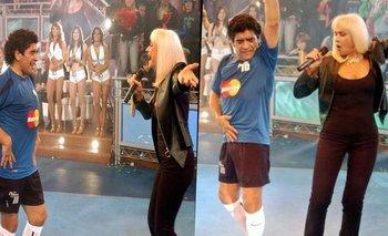 La noche que Raffaella Carrà bailó con Maradona en La Noche del Diez   Televisión