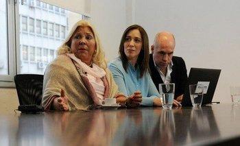 Junto a Vidal, Carrió apuntó contra Manes por impedir la unidad | Interna en cambiemos