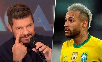 La insólita canchereada de Tinelli a Neymar antes de la final   Copa américa 2021