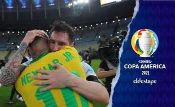 Copa América 2021: conmovedor abrazo entre Messi y Neymar tras el título   Copa américa 2021