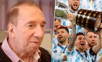 La emoción de Carlos Bilardo tras la obtención de la Copa América | Selección argentina