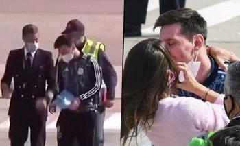 El emotivo reencuentro de Messi con Antonella Roccuzzo tras salir campeón | Lionel messi