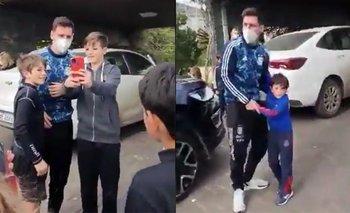 El emotivo abrazo de Messi con sus hijos y la ovación de los vecinos   Copa américa 2021