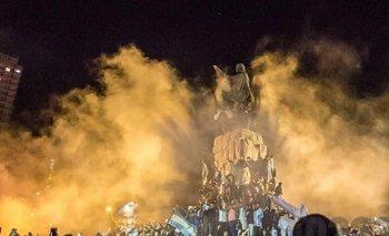 Apareció Maradona en el humo de los festejos en Mar del Plata | Diego armando maradona