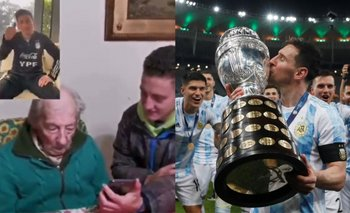 El emotivo video de Messi a un abuelo de 100 años que anota sus goles | Lionel messi
