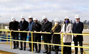 Fernández, Kicillof, Katopodis y Galmarini inauguraron una planta depuradora | Aysa