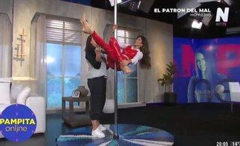 Blooper: Barby Franco hizo el baile del caño y se cayó de cabeza   Televisión