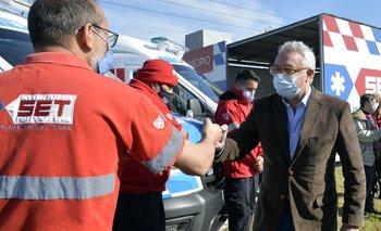 Zamora presentó nuevos móviles y una base operativa del Sistema de Emergencias | Seguridad