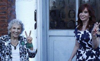 El mensaje de CFK a una Abuela de Plaza de Mayo por su cumpleaños   Redes sociales