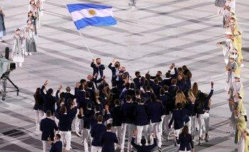 La descontrolada entrada de la delegación argentina a los JJ.OO.   Juegos olímpicos