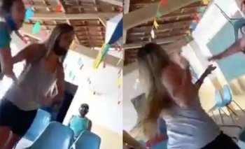 Acompañó a la amante a vacunarse, se encontró a la esposa y se pudrió todo | Video viral