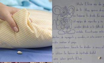 Una nena le dejó su diente al Ratón Pérez y no le pagó por tenerlo sucio | Redes sociales