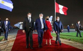 Alberto llegó a Perú para la asunción de Pedro Castillo | Alberto fernández
