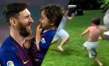 ¿Como Lionel? Mateo Messi demostró sus habilidades para el fútbol | Redes sociales