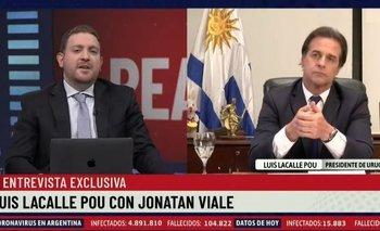 Jonatan Viale quiso chicanear a Lacalle Pou con Cristina y le salió mal | Jonatan viale