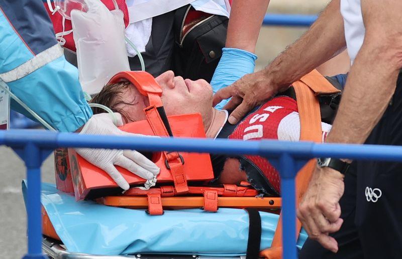 Corredor de BMX sufrió hemorragia cerebral en accidente | Juegos olímpicos