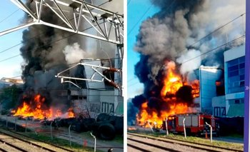 Impactantes imágenes: se incendió la fábrica de la cervecería Quilmes   Quilmes